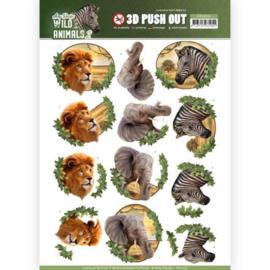 SB10351 3D Stansvel A4 - Wild Animals - Amy Design