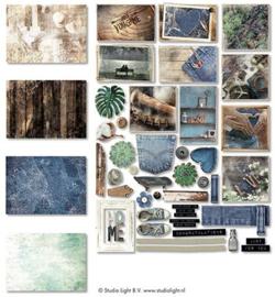 EasyDEN645 Paper Elements - Denim Saturday - Studio Light