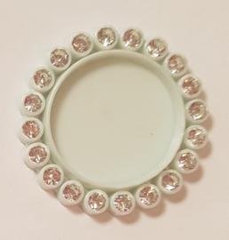 Cirkel 3cm met strass - per stuk - Mint