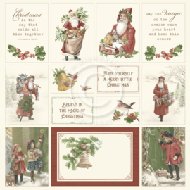 PD1640 Scrappapier plaatjes - Let's be Jolly - Pion Design