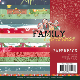 YCPP10027 paperpad - Family Christmas - Yvonne Creations