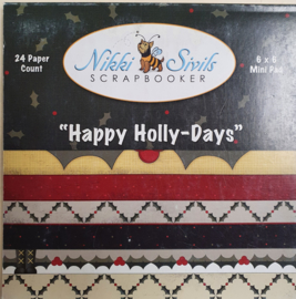 219 paperpad 15x15cm Happy Holly-days - Niki Sivils