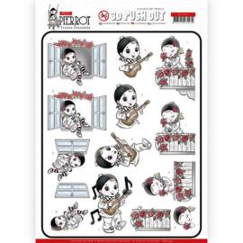 SB10431  Uitdrukvel A4 - Pierrot - Yvonne Creations