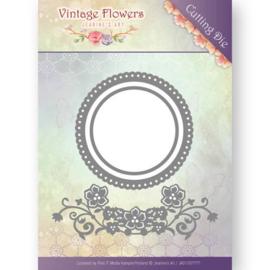 JAD10034 Snij- en embosmal - Vintage Flowers - Jenine's Art