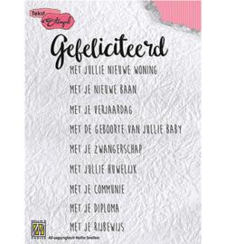 DTCS007 Clearstempel Nederlandse tekst - Nellie Snellen