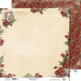 SM12480 Scrappapier dubbelzijdig - Christmas Rose - Inkido