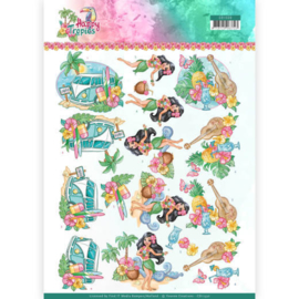 CD11330 3D vel  - Happy Tropical - Yvonne Creations