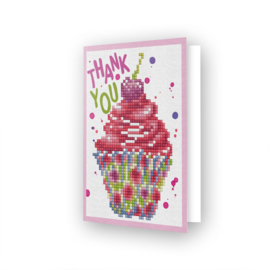 DDG.025 Diamond Dotz - Greeting Card - Cup Cake
