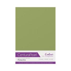 Pistachio - Glanskarton A4 310 grams - 10 vel - Centura Pearl