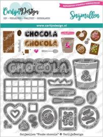 CDSN-0107 Snijmallen Foute chocola - Carlijn Design