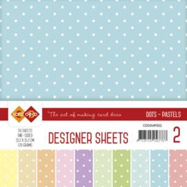 CDDSMP002 Paperpad 50 stuks - Stip Pastel - Card Deco