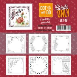 CODO049 Dot en Do 4kant Cards Only nr. 48 - 6 stuks