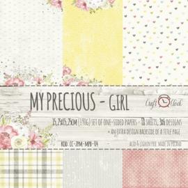 Paperpad 15,2 x 15,2 cm - My Precious Girl - Craft-O-Clock