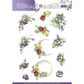 SB10259 Stansvel A4 - Timeless Flowers - Marieke Design