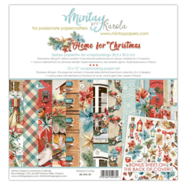 Paperpad 30.5x30.5cm - Home for Christmas  - Mintay * PAKKETPOST *