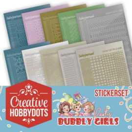 CHSTS001 Stickers bij Creative Hobbydots - Bubbly Girls - Yvonne Design