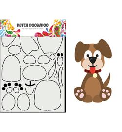 470.713.866 - Card Art Built up Hondje - Dutch Doobadoo