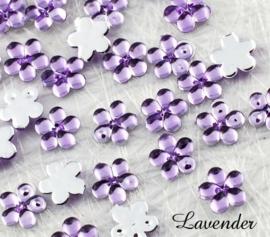 4mm strass bloemetjes - 25 stuks - Lavender