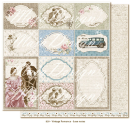 839 Scrappapier dubbelzijdig - Vintage Romance - Maja Design