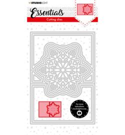 SL-ES-CD71 - SL Cutting Die Christmas Card shape mini snowflake Essentials nr.71