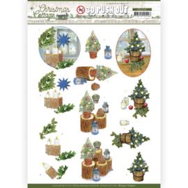 SB10591 Stansvel A4 - Christmas Cottage- Jeanine's Art