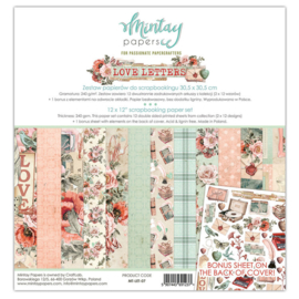 Paperpad 30.5x30.5cm - Love Letters - Mintay * PAKKETPOST *