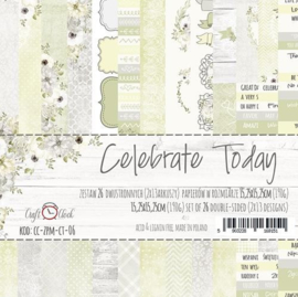 Paperpad 15,2 x 15,2 cm - Celebrate Today - Craft-O-Clock