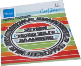 CR1561 Craftable Cirkel Feestdagen- Marianne Design