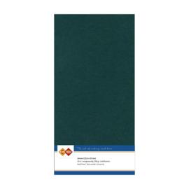 47 Jade - Linnen Kaarten 4 kant 13.5x27cm - 10 stuks - 200 grams - Card Deco