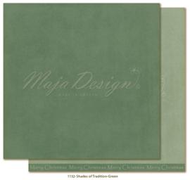 1132 Scrappapier dubbelzijdig - Monochromes - Traditonal Christmas - Maja Design