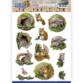 SB10537 Stansvel 3D vel A4 - Forest Animals - Amy Design