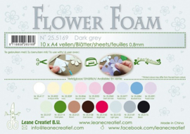25.5169  Flower foam sheets A4 0.8mm. Dark grey - per stuk