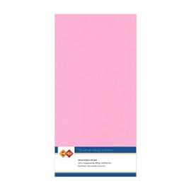 16 Roze - Linnen Kaarten 4 kant 13.5x27cm - 10 stuks - 200 grams - Card Deco