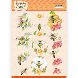CD11675 3D vel A4 - Humming Bees - Jeanines Art