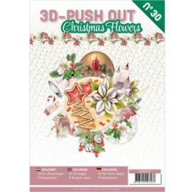 3DPO10030 3D Push Out book 30 Christmas Flowers