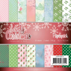 JAPP10012 Paperpad - Lovely Christmas - Jeanine's Art