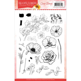 PMCS10044 Clearstempel - Delicate Flowers - Marieke Design