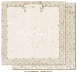 829 Scrappapier dubbelzijdig - Vintage Romance - Maja Design
