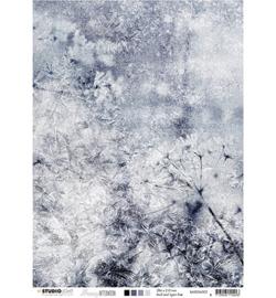BASISSA302 Achtergrondpapier A4 dubbelzijdig  - Snowy Afternoon - Studio Light