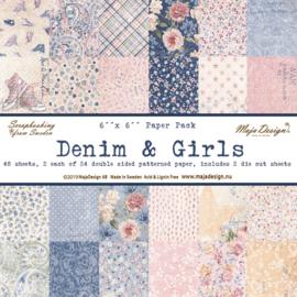 Paperpad 15.2 x 15.2 cm  Denim en Girls - Maja Design