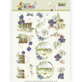 CD11263 3D vel A4 - Happy Spring - Marieke Design