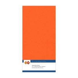 11 Oranje - Linnen Kaarten 4 kant 13.5x27cm - 10 stuks - 200 grams - Card Deco