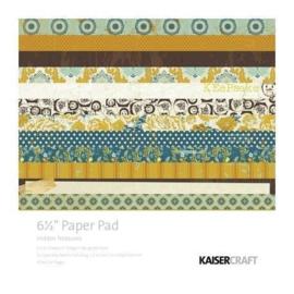 PP918 Paperpad 16,5 x 16,5 cm - Hidden Treasure - Kaisercraft