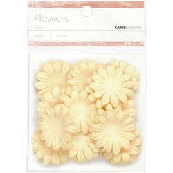 "SB814 Paper Flowers 1.38"" (3.5cm) 50stuks - Cream - Kaisercraft"