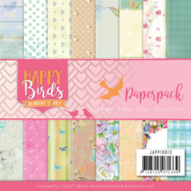 JAPP10013 Paperpad - Happy Birds - Jeanine's Art