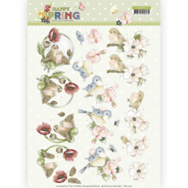 CD11262 3D vel A4 - Happy Spring - Marieke Design