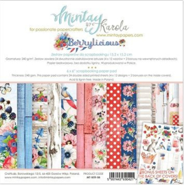 Paperpad 15x15cm - Berry Licious - Mintay
