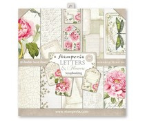 Paperpad 30.5 x 30.5 cm Letter Flowers - Stamperia