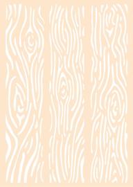 6005-0002 Polybesa stencil Houten planken  - Joy Crafts