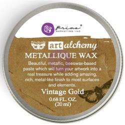 Finnabair Metallic Wax - blikje - Vintage Gold - Prima Marketing